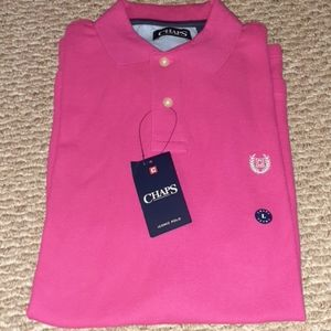Mens Chaps Pink Iconic Polo Shirt Size L